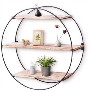 🎀New Wood Floating Circle Shelf🎀